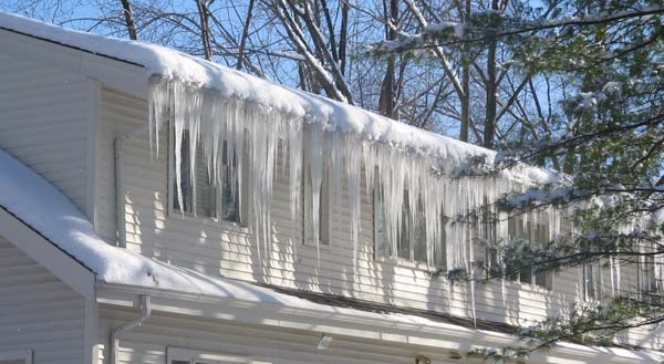 Ice dams on low-slope roofs