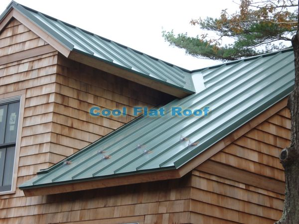 Standing Seam Metal Roof Eliminates Ice Dams.
