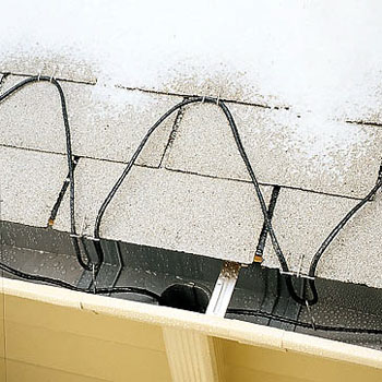 Roof heat cable fail to solve ice dam problems.