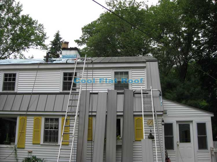 Metal Roof installation in Wayland MA
