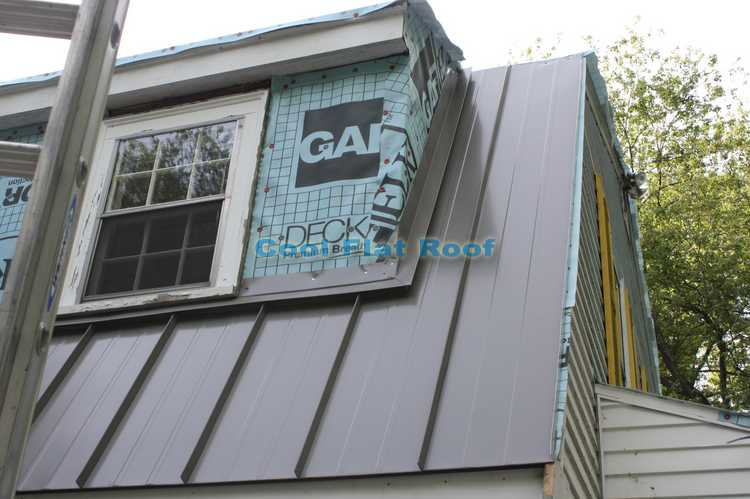 Roof to wall flashing - standing seam metal roof wayland MA
