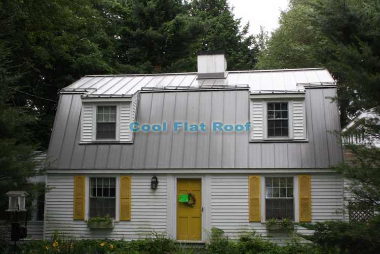 Standing seam metal roof installed in Wayland, MA