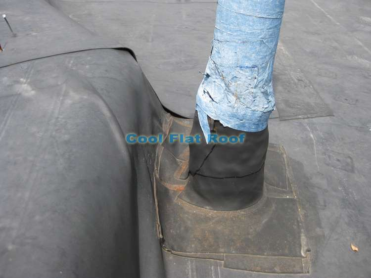 EPDM rubber roof - vent pipe flashing