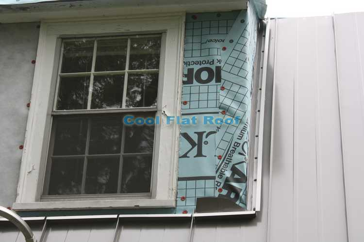 Metal roof side-wall z-bar flashing - Wayland, MA