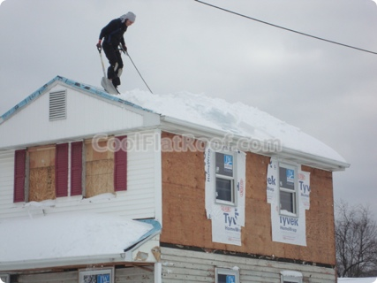 Winter Roofing - Snow Removal