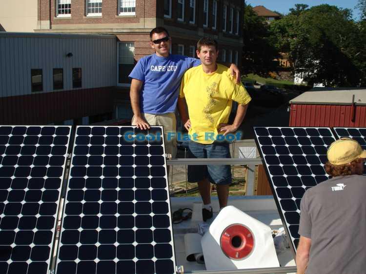Boston Solar Home IB flat roof instalaltion