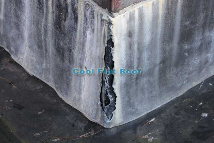 EPDM Rubber roof - chimney lead flashing