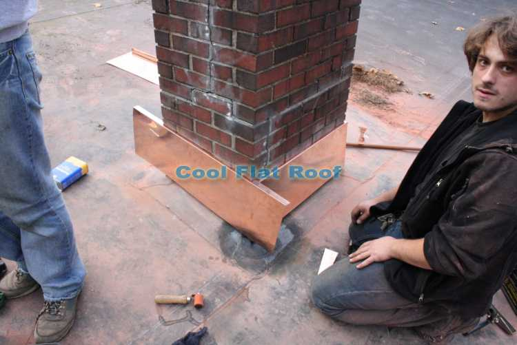 Rubber roof - installing copper counter flashing reglet