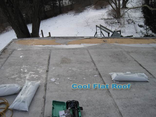 Image of shattered Trocal PVC roof