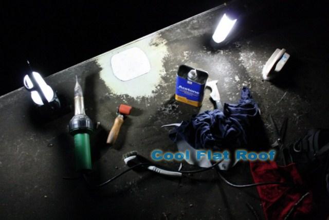 Image of a leaking PVC Roof repair