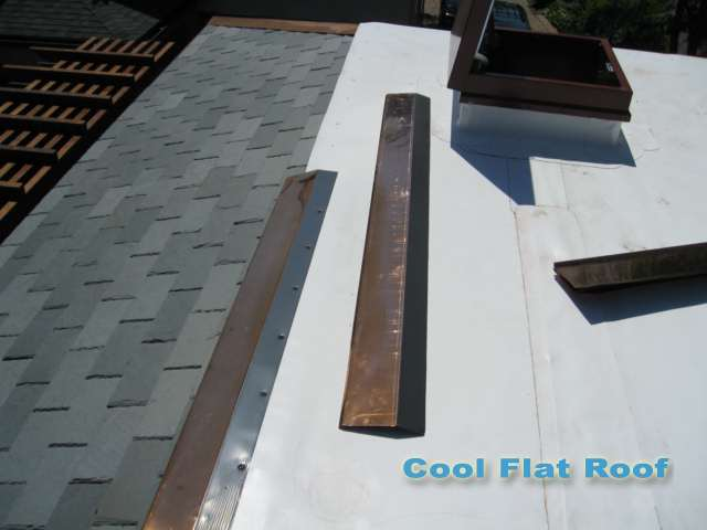 image of Copper Drip Edge with PVC coated flange