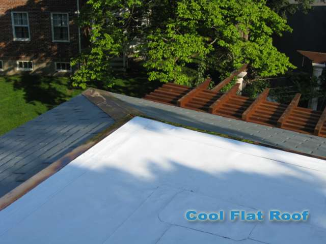 image of Flat Roof with Copper Drip Edge in Newton, MA