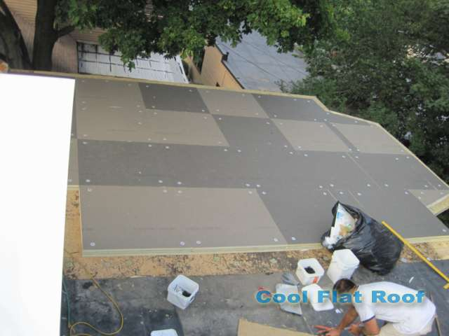 Image of flat roof tapered insulation