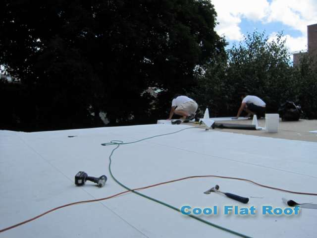 image of Installing flat roof in Cambridge MA