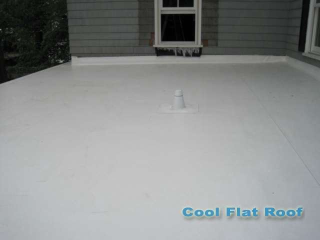 Image of Flat roof over attached garage