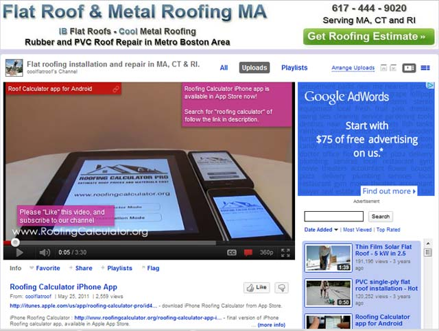 cool flat roof video channel on youtube | cool flat roof – blog