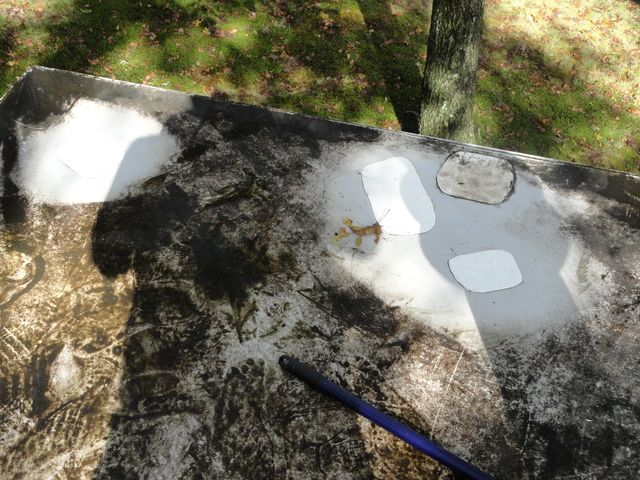 Image of PVC Flat Roof Repair in Needham, MA, done by CoolFlatRoof.com