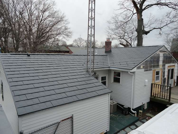 image of Metal Shingles Roof in Cumberland, RI - view from the back