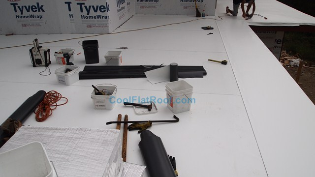 Flat Roof with Tapered Insulation