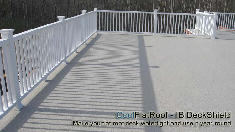 Flat roof decks and patios cool flat roof for Garage roofing options