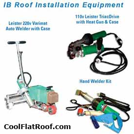 IB Roofing installation equipment