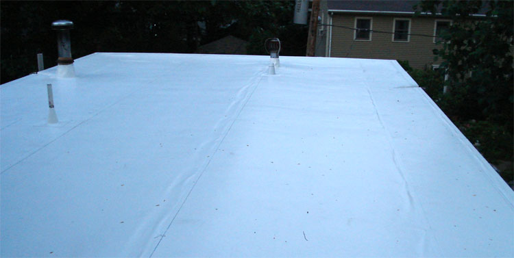Flat roof on East side of Providence