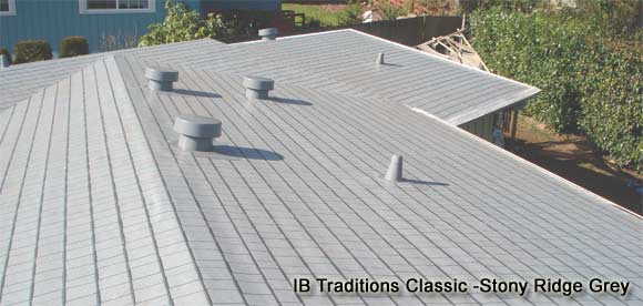 Grey 50-mil IB Roof Traditions - A lifetime residential flat and low-slope roof solution will give the homeowner years of worry free service and reduce energy costs.