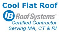 IB Roof installation in Massachusetts - permanent flat roofing.