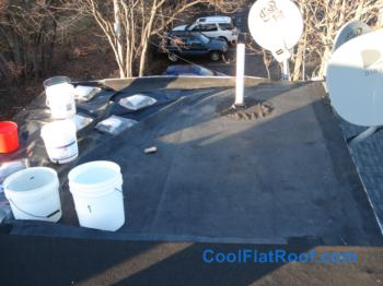 Small Rubber Roof Replacement In Charlestown Ma