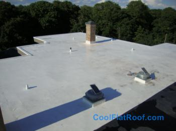 Flat Roof In Newport Ri