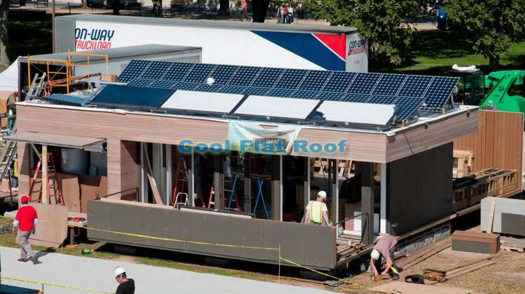 Boston Solar Decathlon house - a variety of the most green building technologies currently available on the market was used in the construction of this solar PV home.