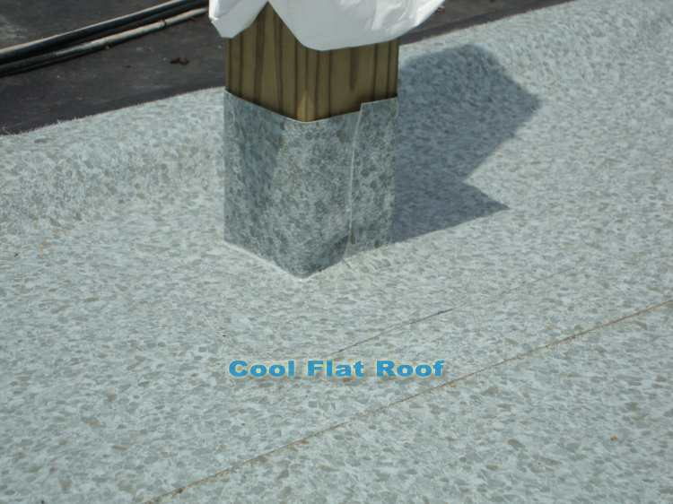 Roof Decks - railing post flashing