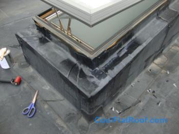 Rubber Roof Skylight Flashing Repair Cambridge Ma